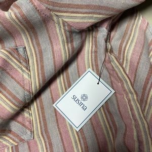 Susina Tops - NWT Susina Pink Soft Flannel Button Down Shirt